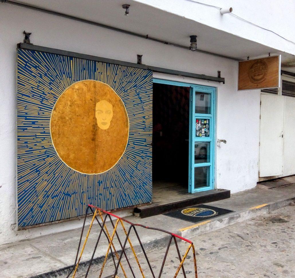 Entrance to bar el solar