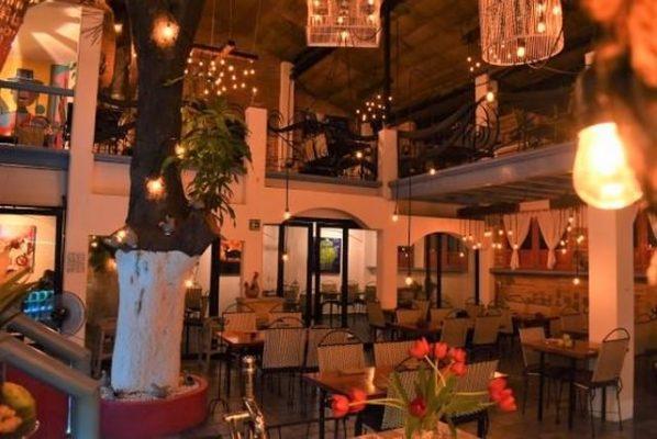 Tables in restaurant Merida Grill in Puerto Vallarta