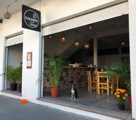 Entrance to the calmate cafe in Puerto Vallarta.