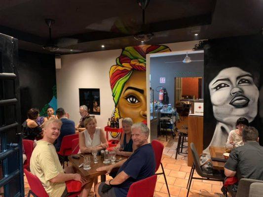 patrons dining in Oregano restaurant in Puerto Vallarta