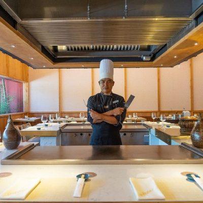 Sushi Chef behind counter at Umai in Restaurant in Puerto Vallarta