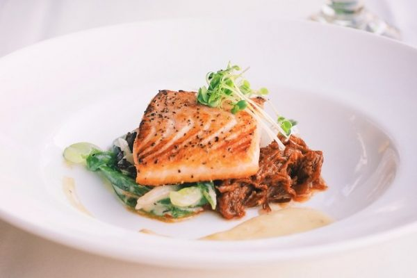 filet of sea bass on a plate