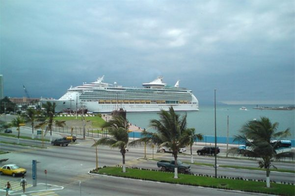 Cruise ship at port in Puerto Vallarta