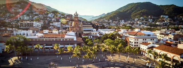 areal view of the city of Puerto Vallarta