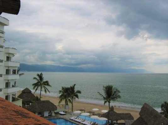 Dark clouds forming on the Bay of Banderas.